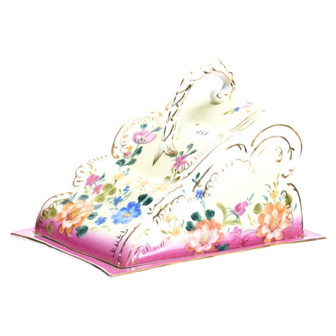 """Cheese Dish with Fleur De Mark Limoges 6.5"""" X 9"""""""