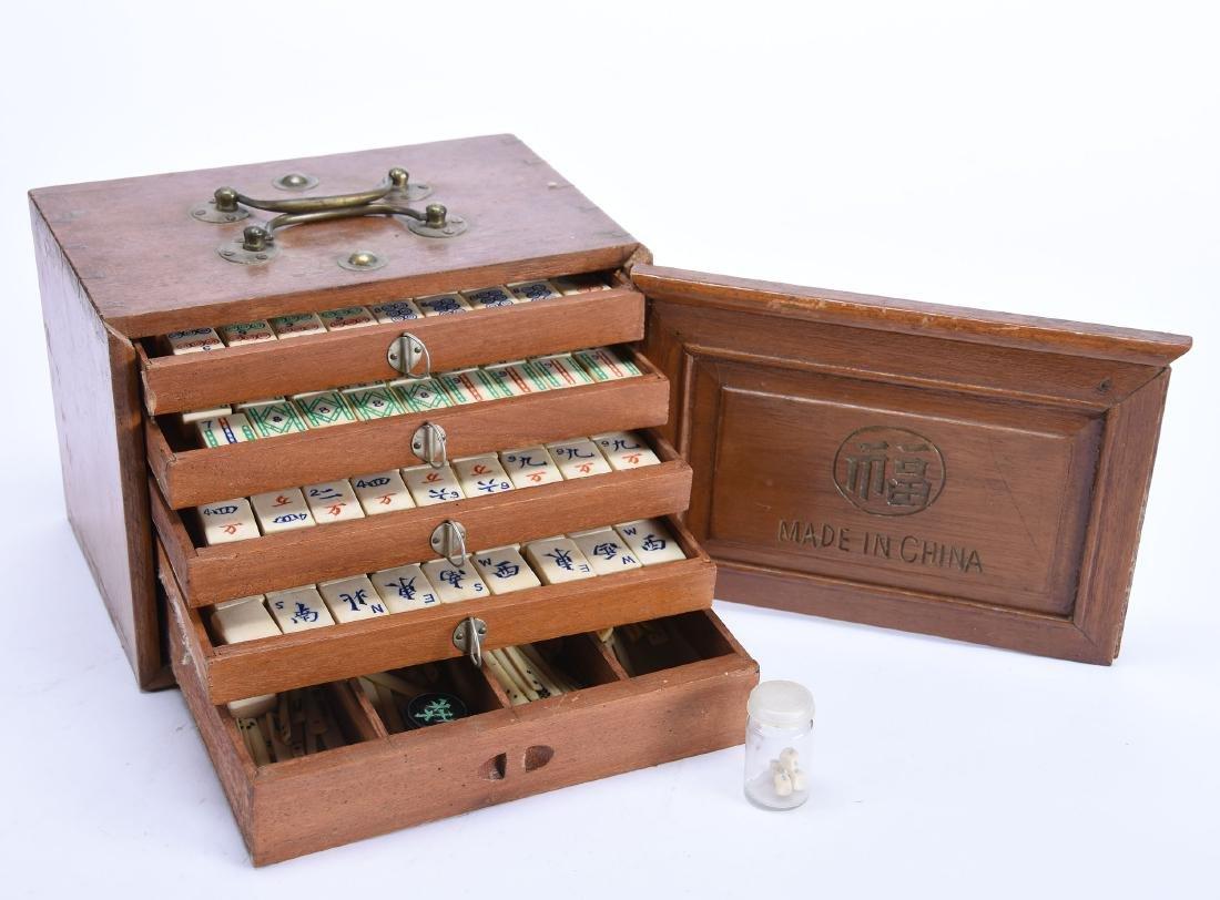 "Vintage Mah Jong Game Set in Case 7"" X 9.25"" Case - 2"