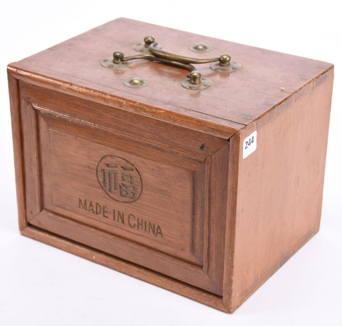 "Vintage Mah Jong Game Set in Case 7"" X 9.25"" Case - 4"