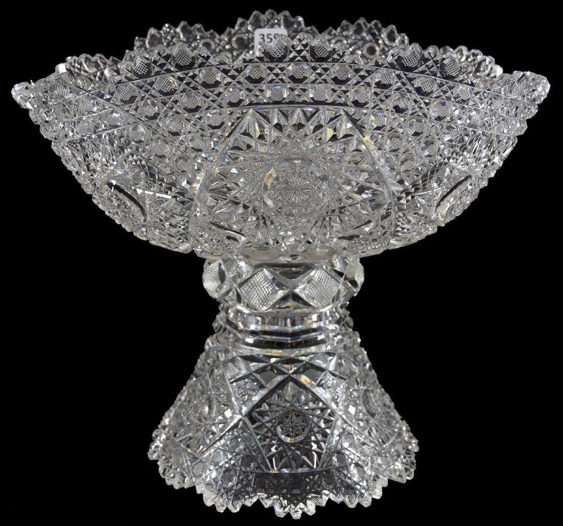 Punch Bowl American Brilliant Cut Glass