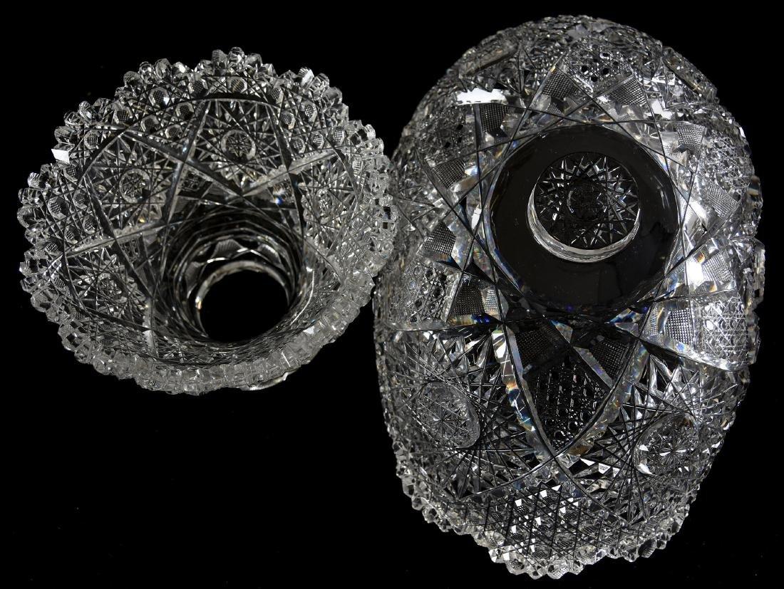 Punch Bowl American Brilliant Cut Glass - 3