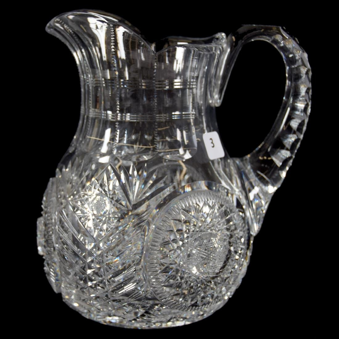 Water Pitcher, Pairpoint, Sparkle Pattern