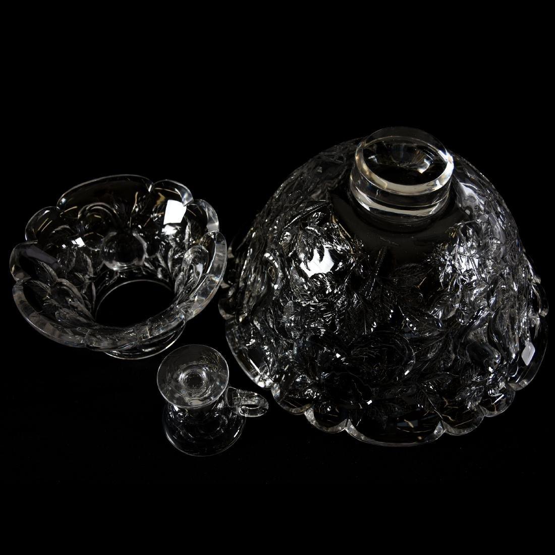Punch Set, Engraved Pear & Apple Decor - 3