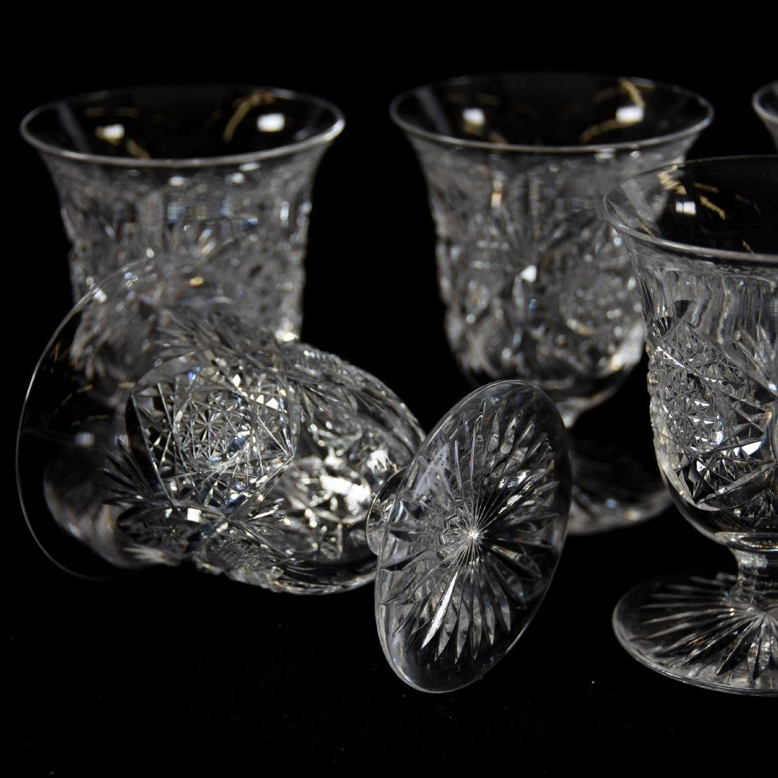 (8) Punch Cups, Signed J. Hoare, Monarch Pattern - 3