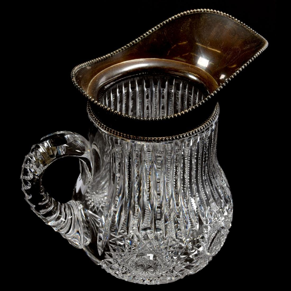 Water Pitcher, Prism Cut Body, Large Hobstars - 2