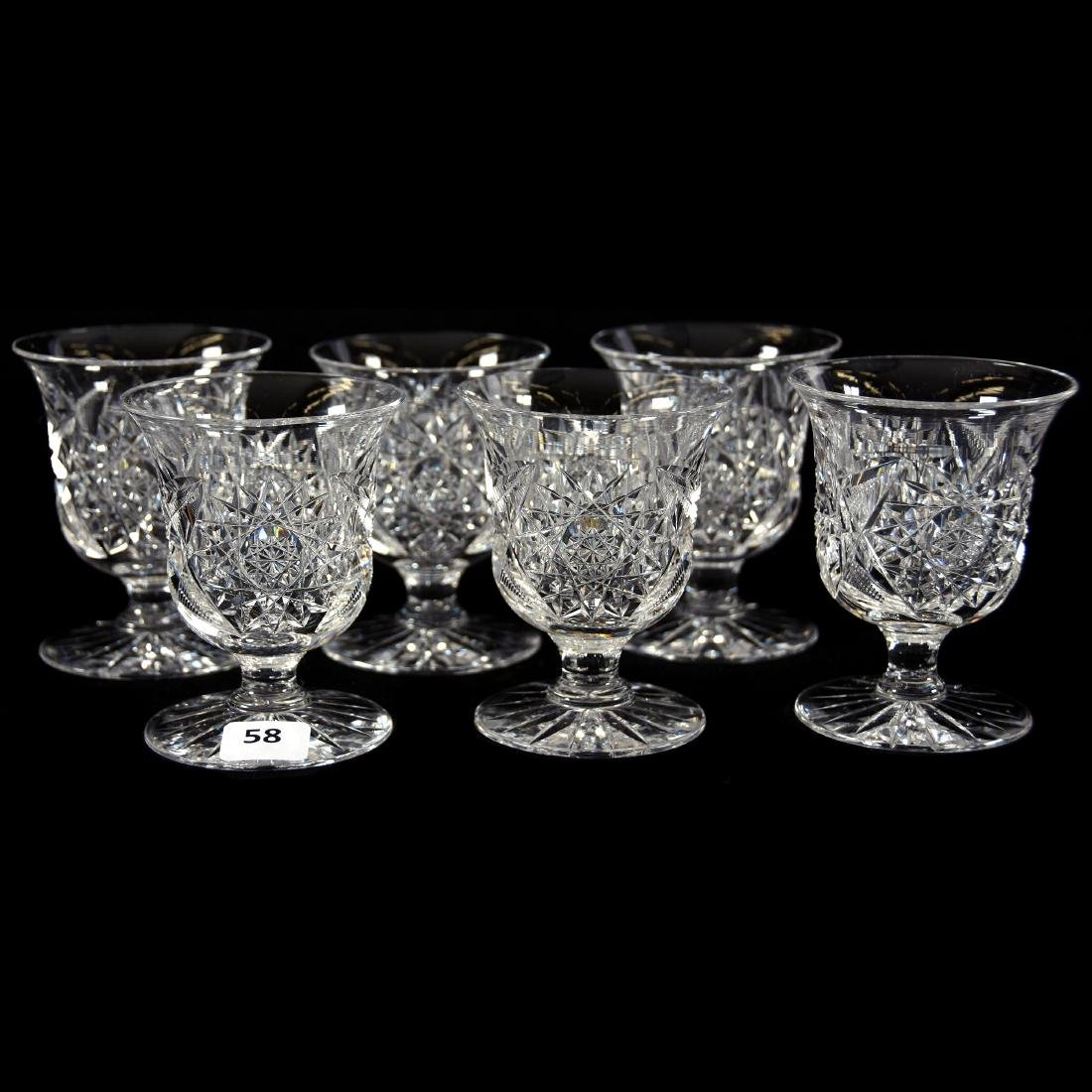 (6) Punch Cups, Hobstar & Star Motif