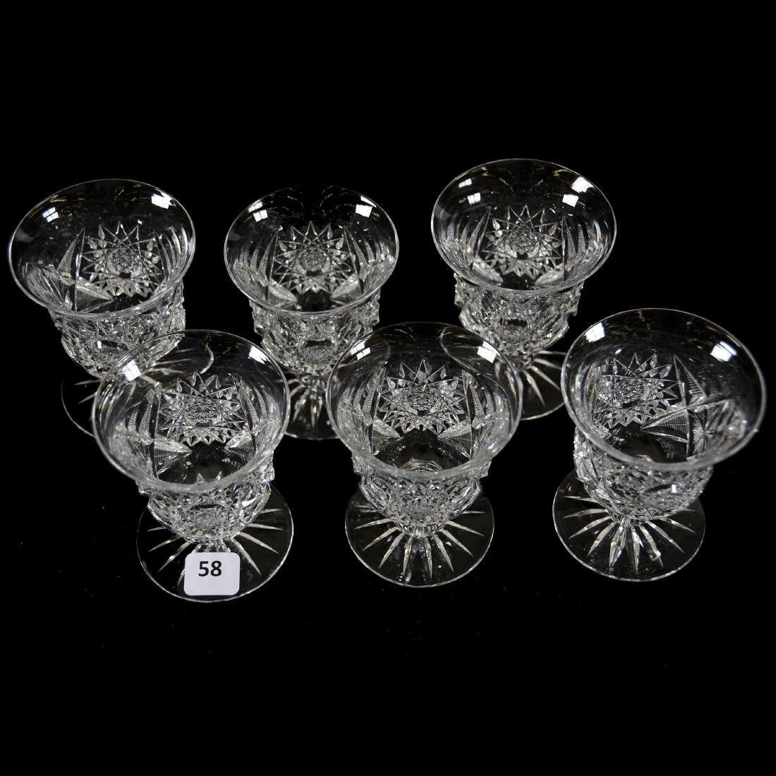 (6) Punch Cups, Hobstar & Star Motif - 2