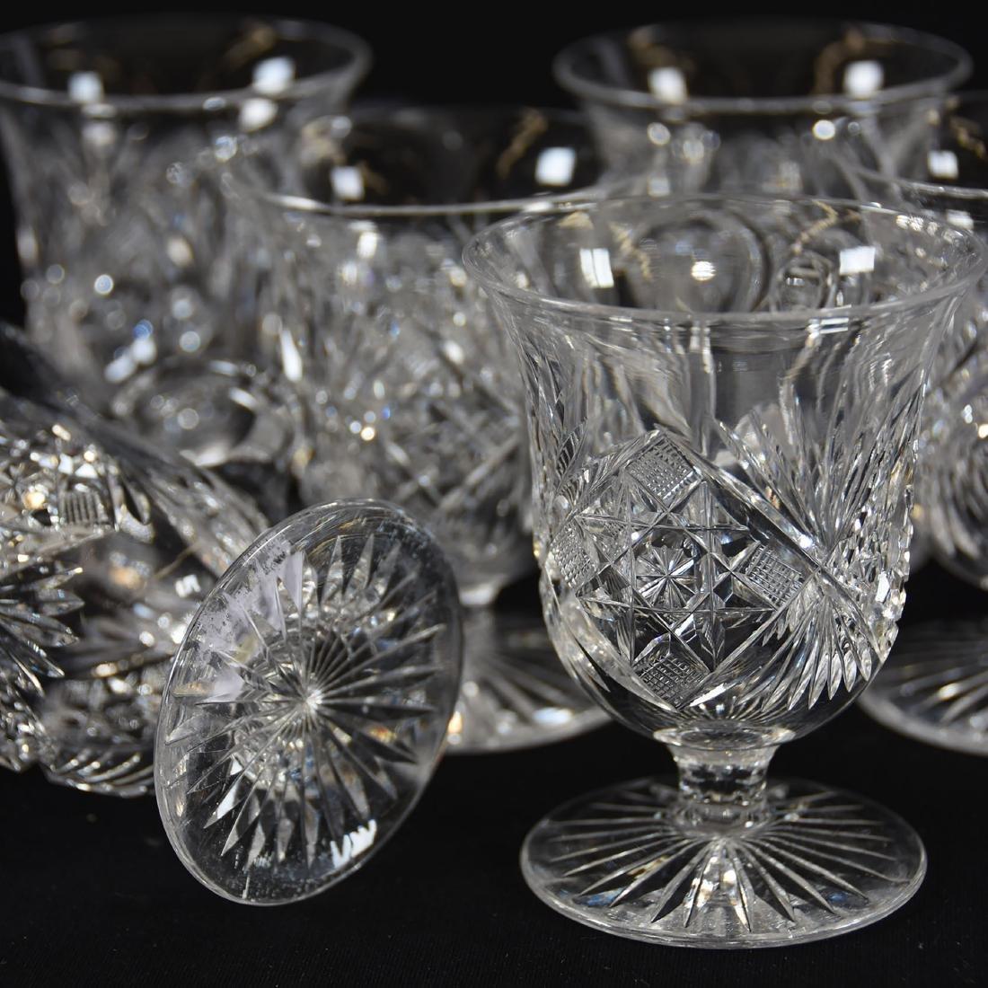 (9) Punch Cups, Hobstar, Nailhead Diamond & Fan Motif - 3