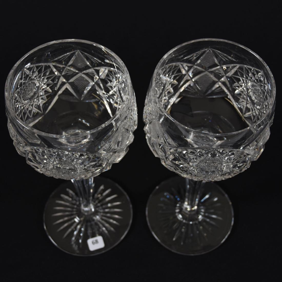 Pair Massive Goblets, Hobstar & Strawberry Diamond - 2