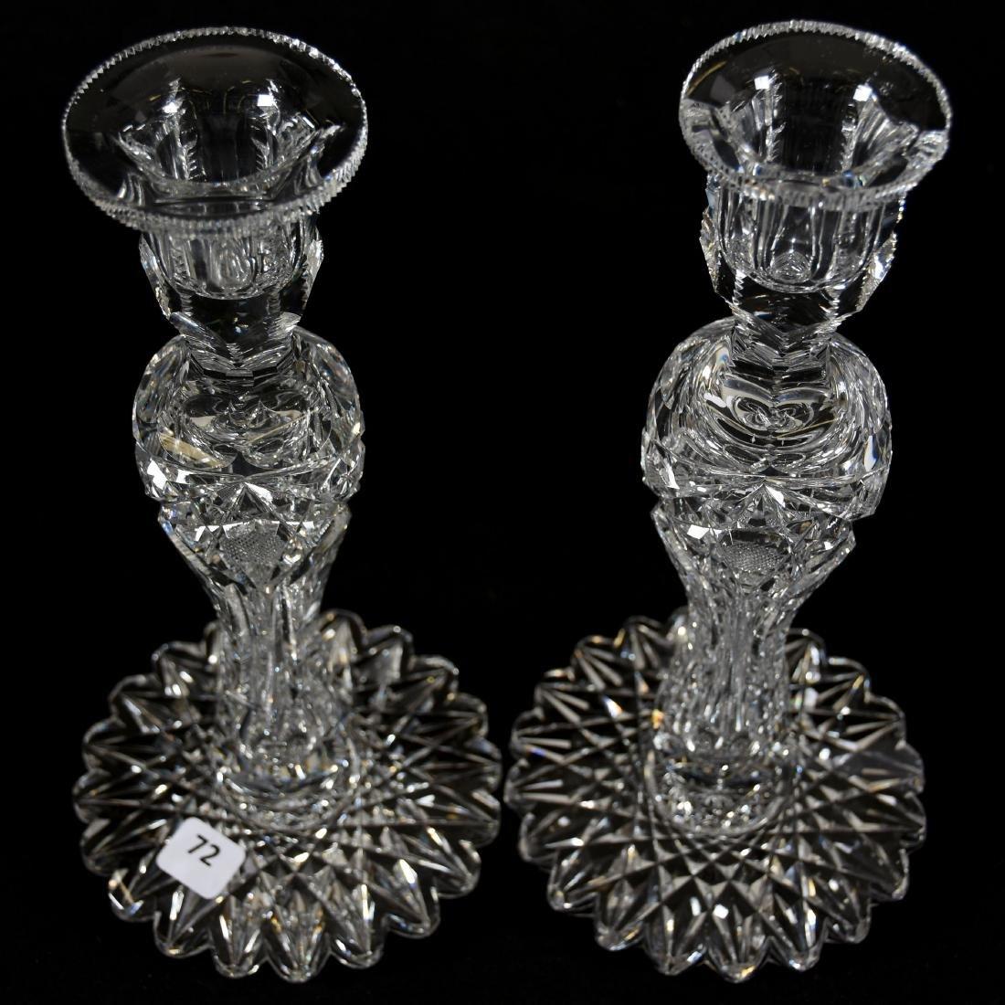 Pair Candlesticks, Signed Egginton, Victoria Pattern - 2