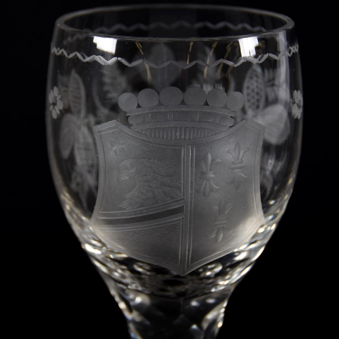 Chalice, Engraved Floral & Shield, Brilliant Period - 3