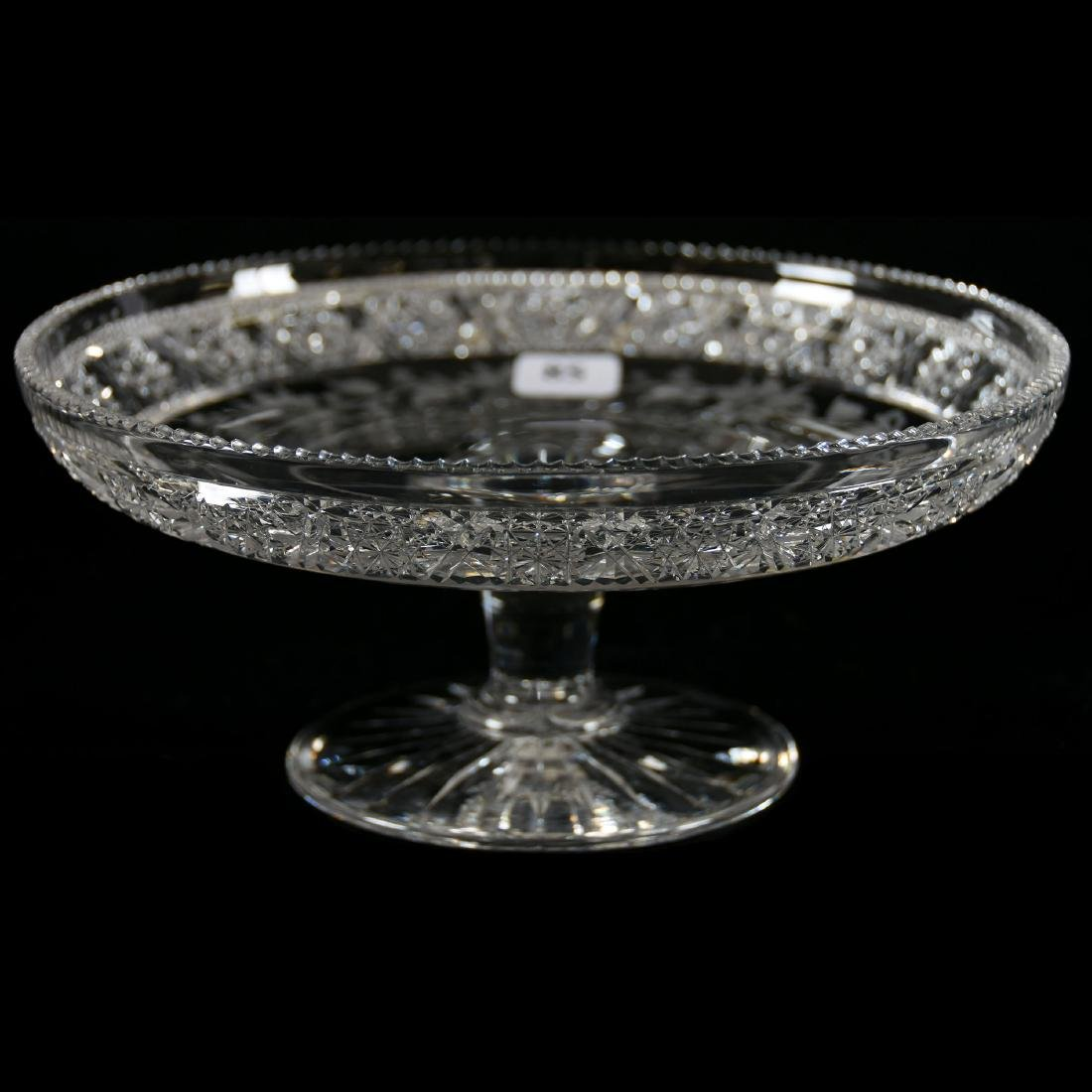 Cake Stand, Signed Tuthill, Rosaceae Pattern