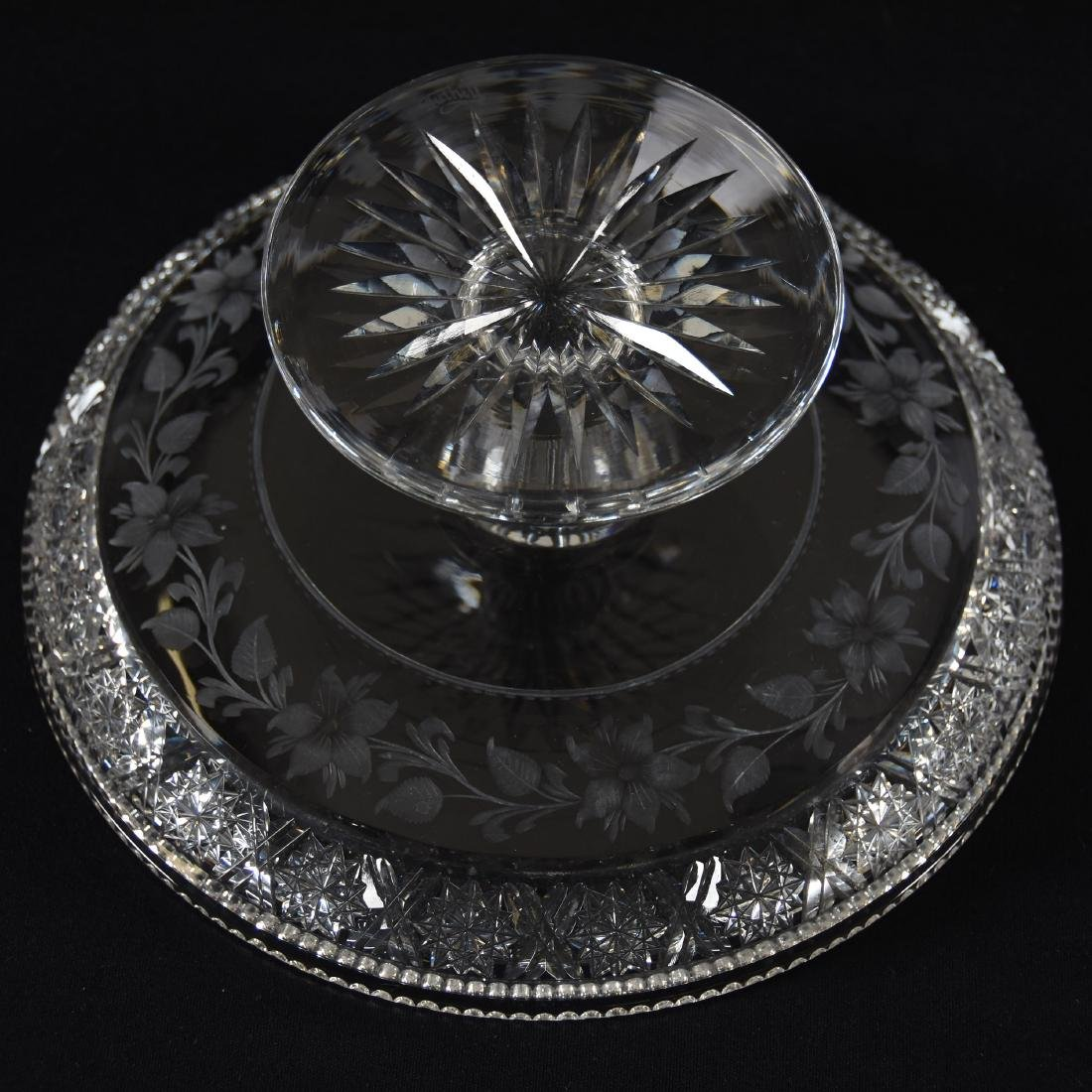 Cake Stand, Signed Tuthill, Rosaceae Pattern - 3