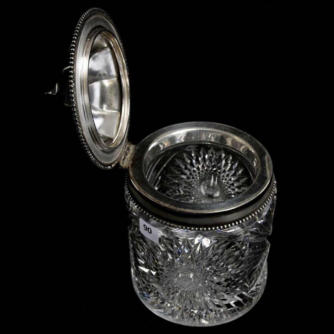 Biscuit Jar, Hobstar & Fan Motif - 2