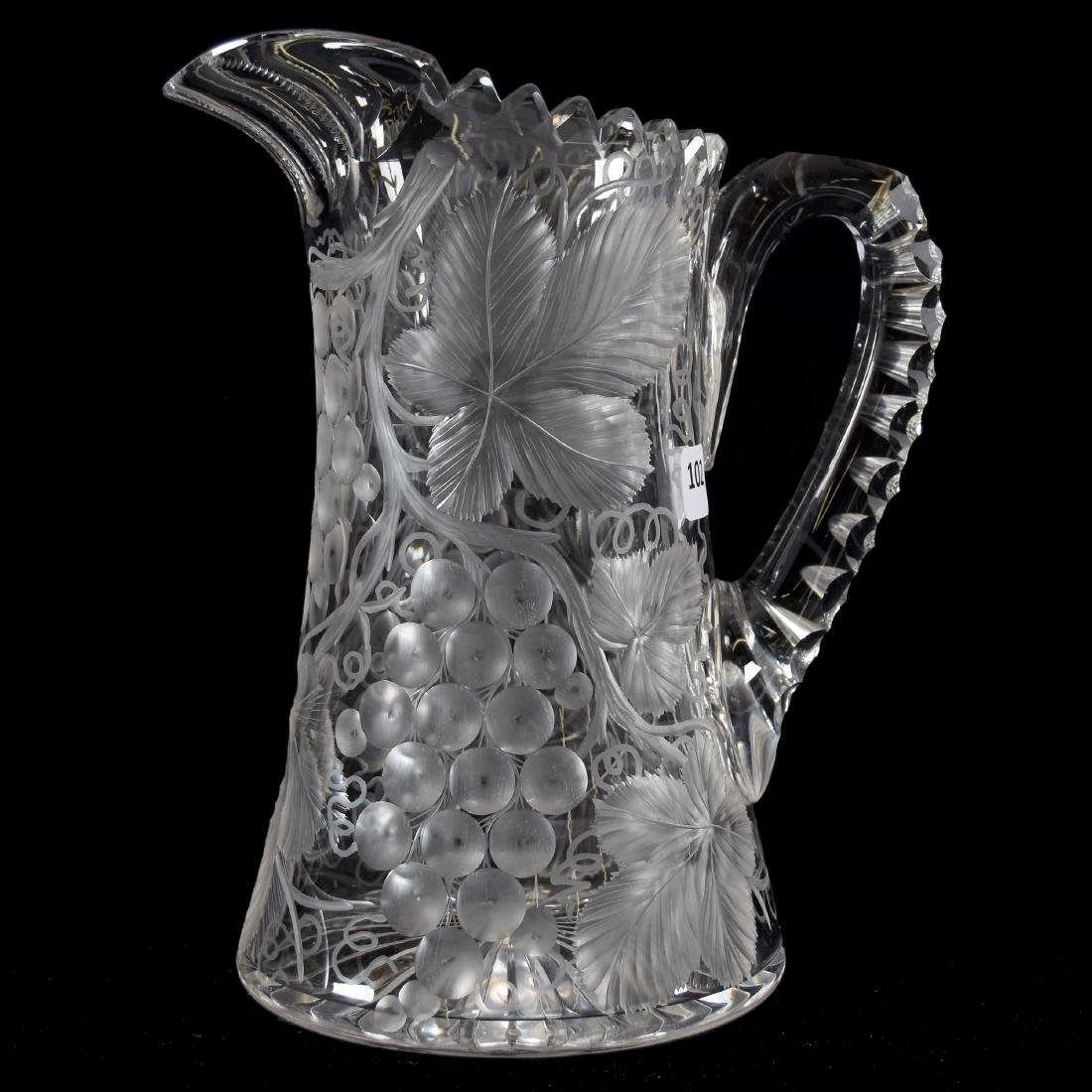 Pitcher. Engraved Vintage Motif