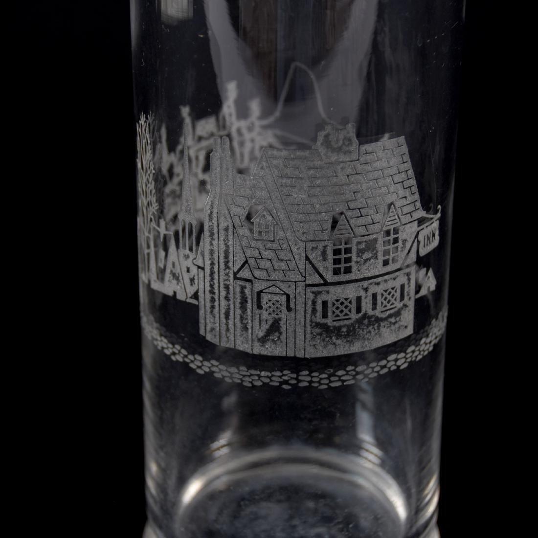 Cocktail Shaker, Engraved Scene - 4