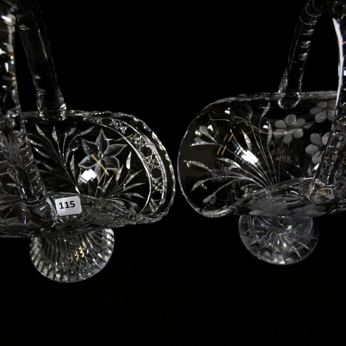 (2) Easter Baskets, Engraved Floral - 2