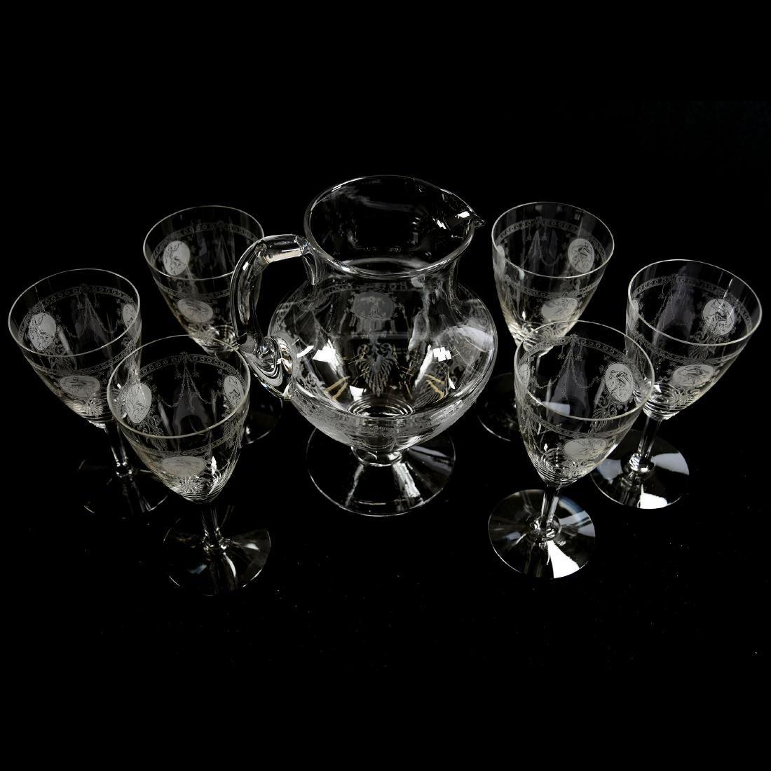 Water Set, Heisey, Pied Piper Pattern - 2