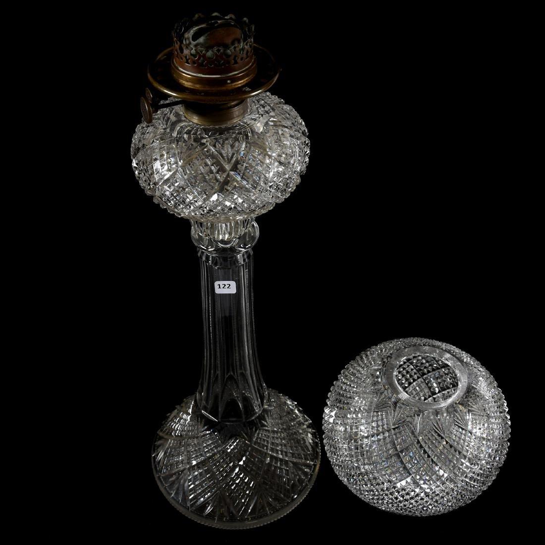 Banquet Lamp, Crosscut Diamond & Fan Motif - 4