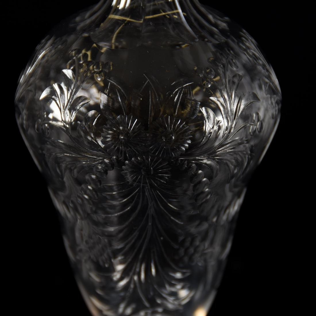 Liqueur Decanter, Engraved Floral Garland Motif - 4