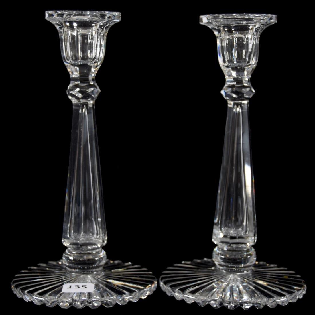 Pair Candlesticks, Six-Sided Stem