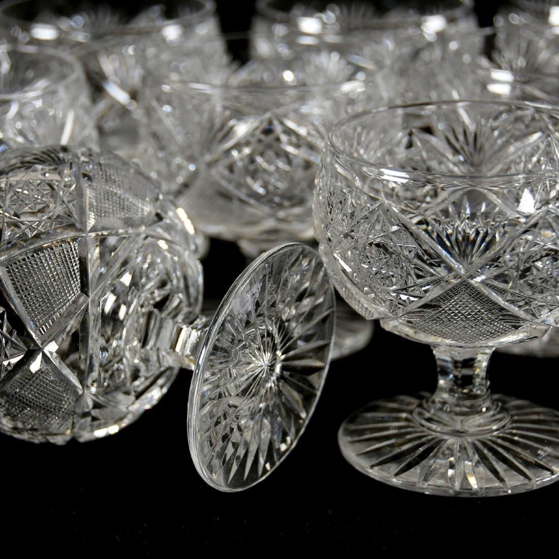 (13) Punch Cups, Hobstar, Strawberry Diamond & Fan - 3