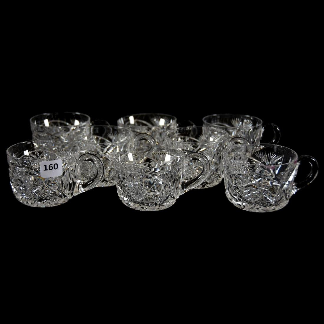 (8) Punch Cups, Signed Libbey, Kingston Pattern