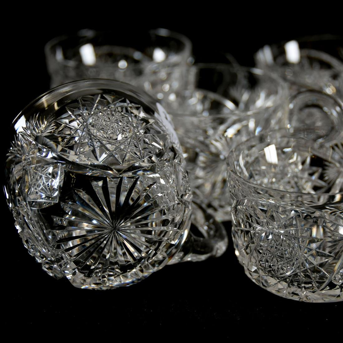 (8) Punch Cups, Signed Libbey, Kingston Pattern - 3