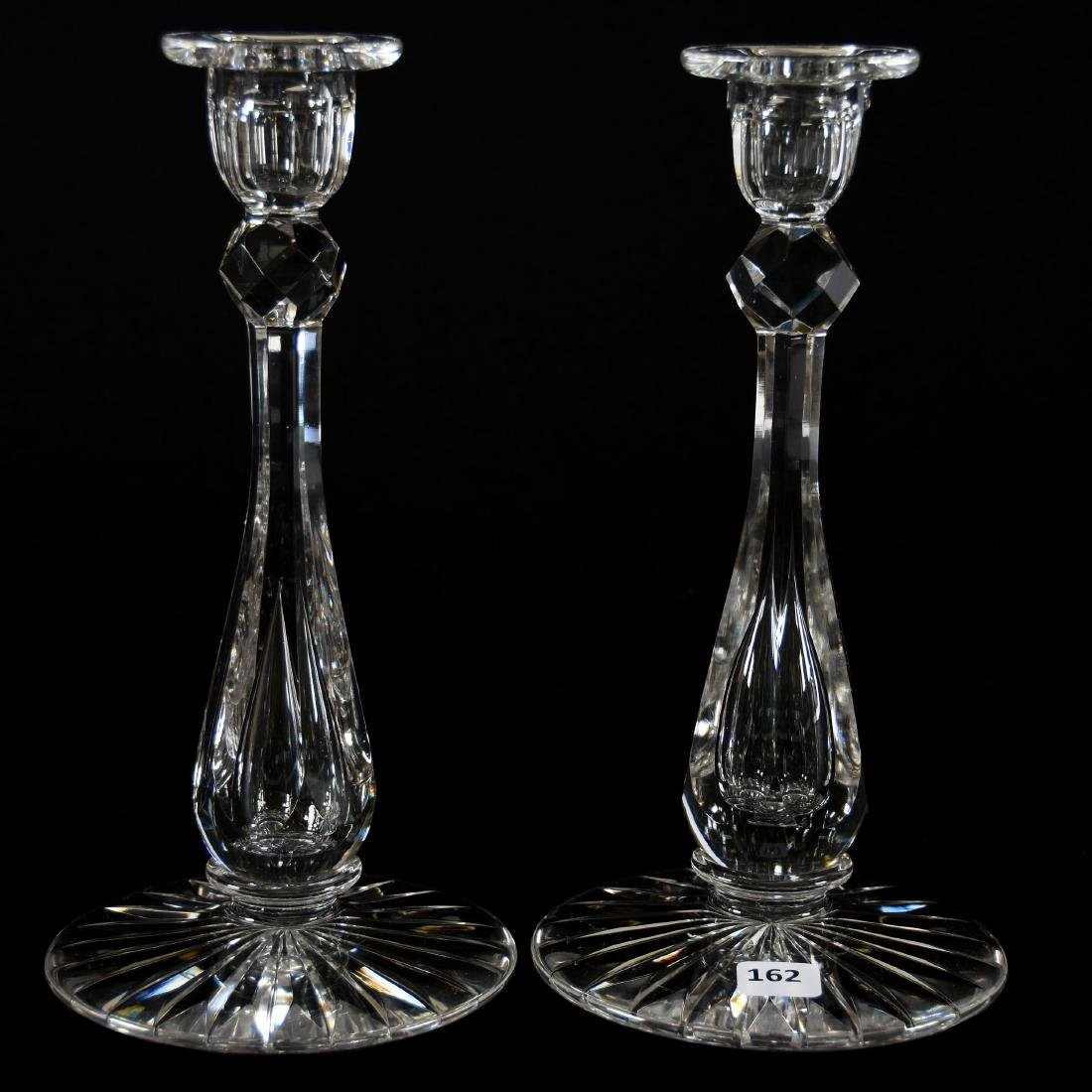 Pair Candlesticks, Six-Sided Stem