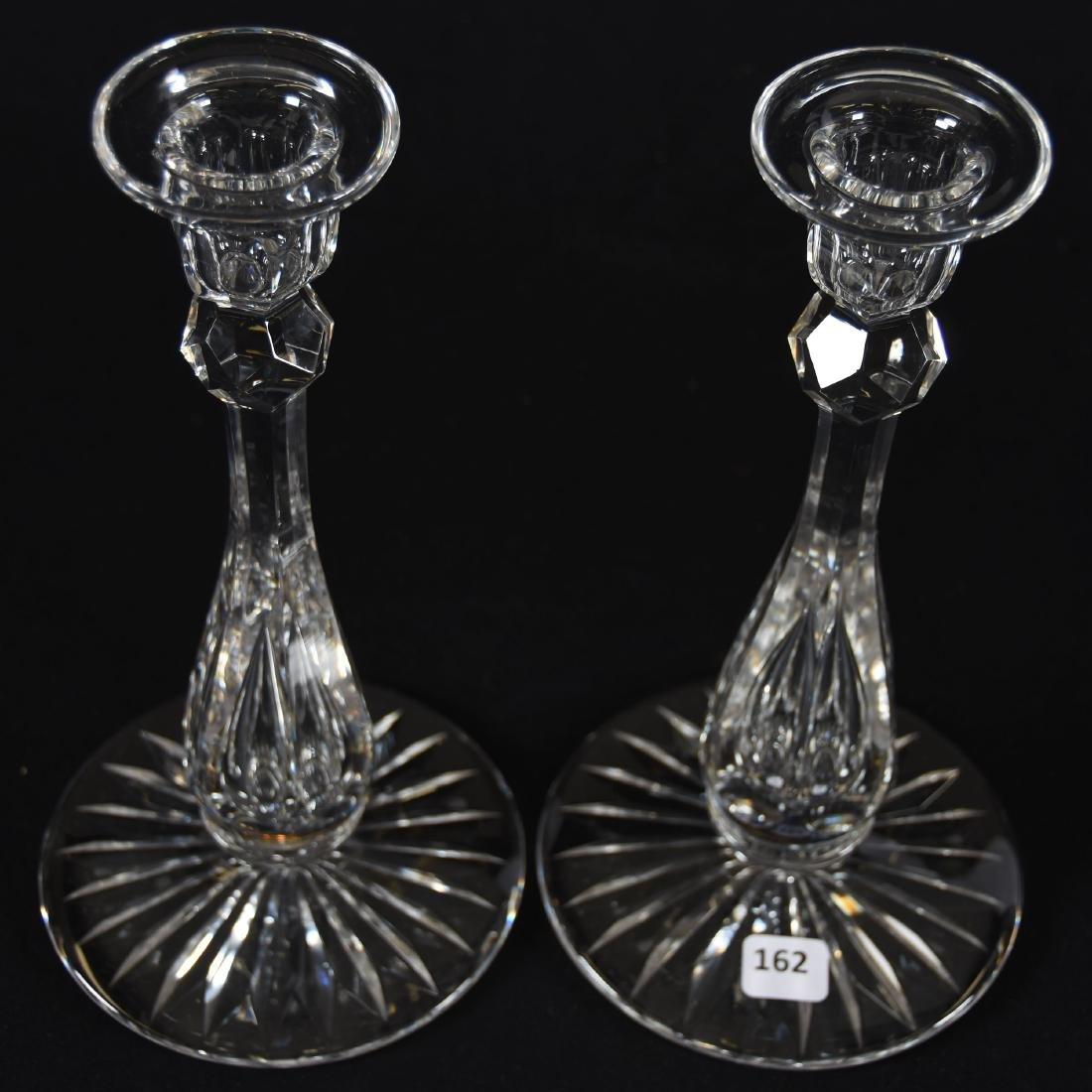 Pair Candlesticks, Six-Sided Stem - 2