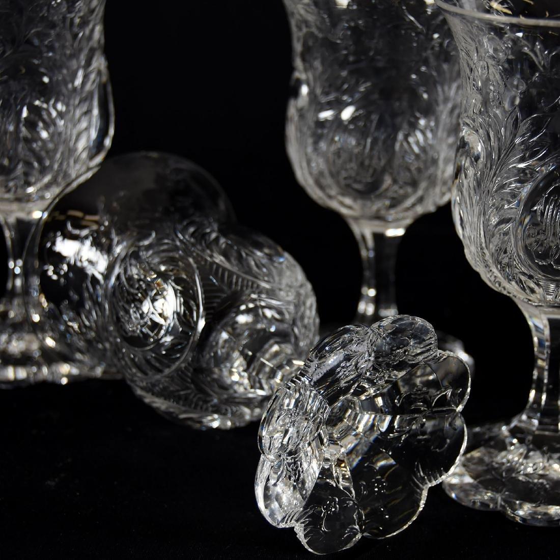 (6) Goblets, Rock Crystal, Tear Drop Medallion Design - 4