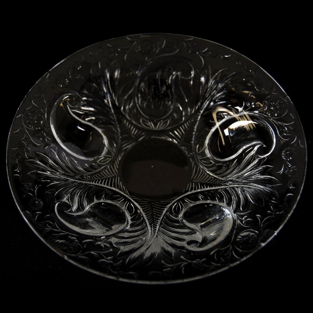 (6) Fingerbowls & Underplates, Rock Crystal, Medallion - 4