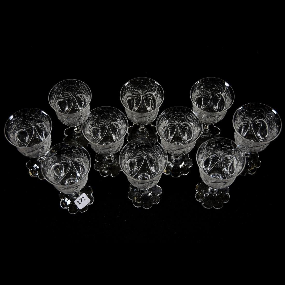 (10) Wines, Rock Crystal, Medallion Design - 2