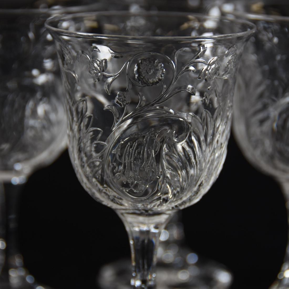 (10) Wines, Rock Crystal, Medallion Design - 3