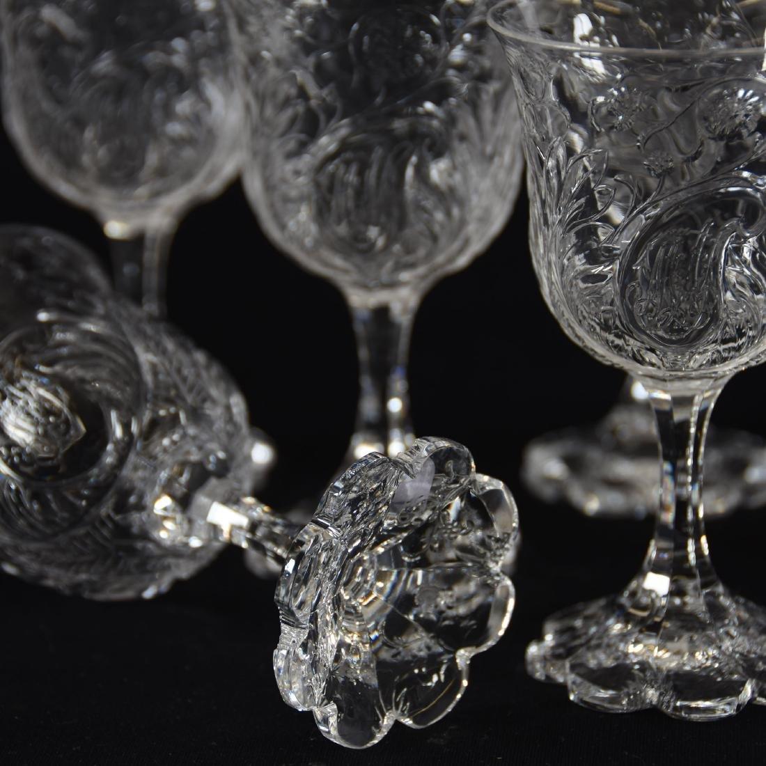 (10) Wines, Rock Crystal, Medallion Design - 4