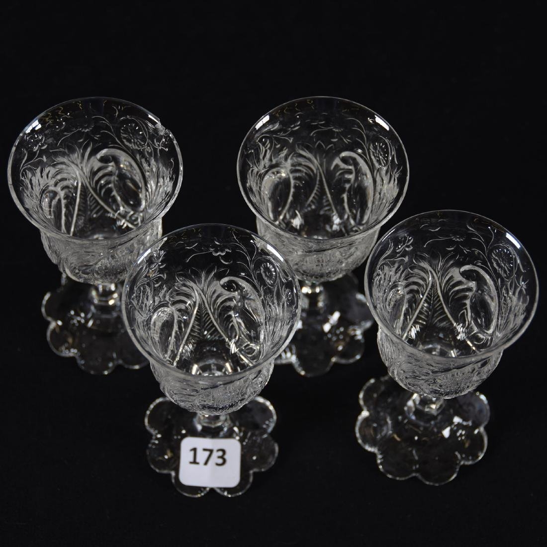 (4) Cordials, Rock Crystal, Medallion Design - 2