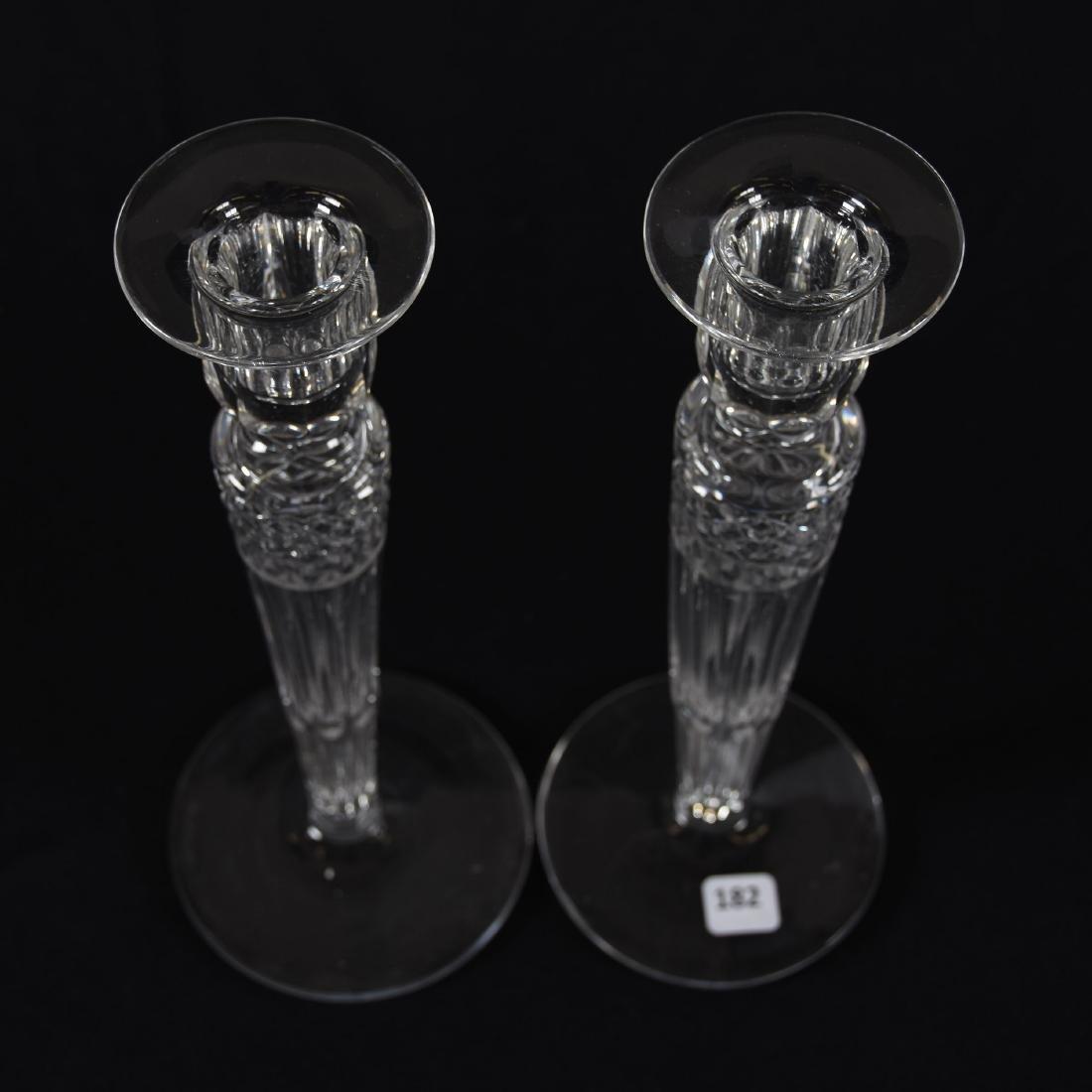 Pair Candlesticks, Signed Hawkes, Hollow Stem Diamond - 2