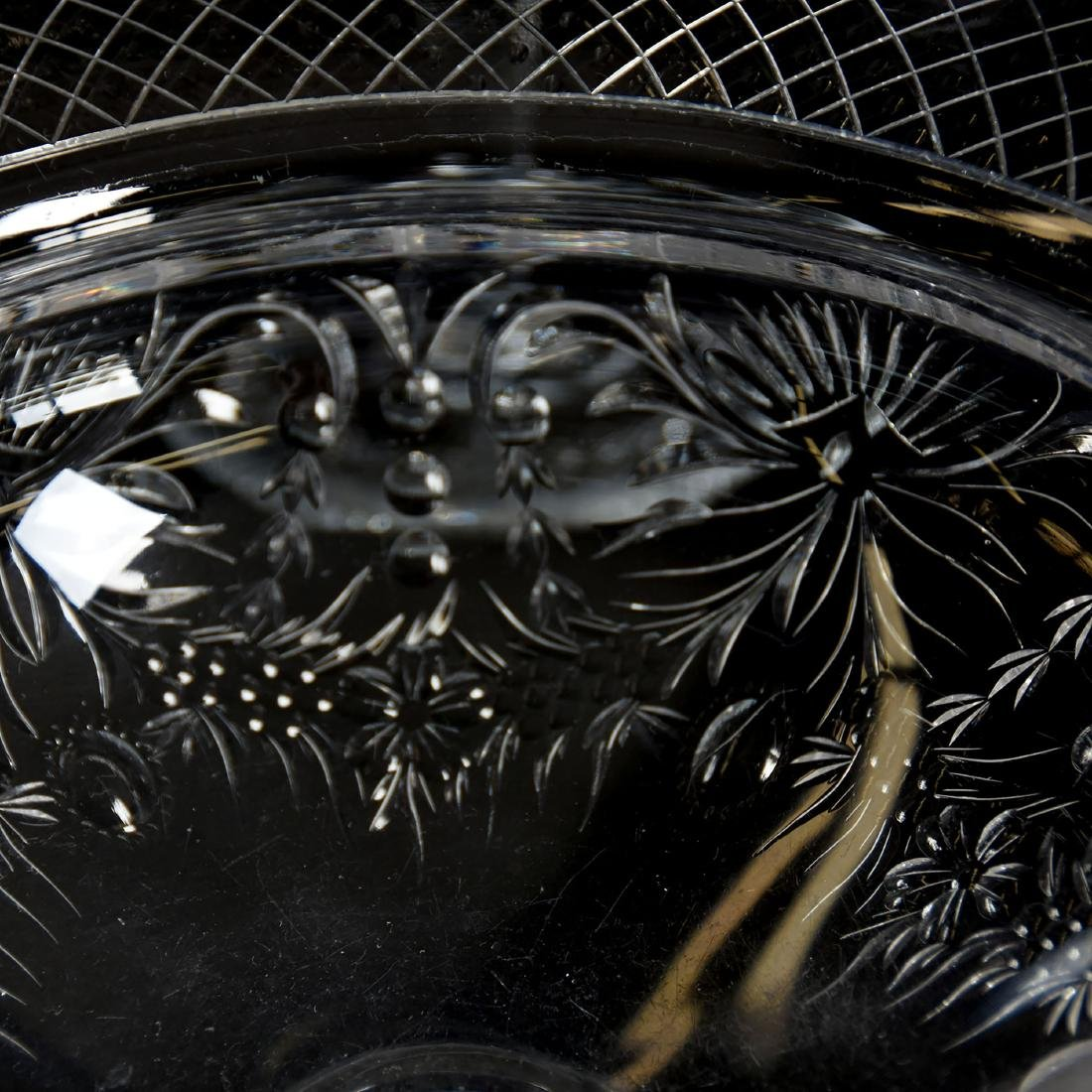 Four Piece Set, Engraved Floral Medallion Design - 4