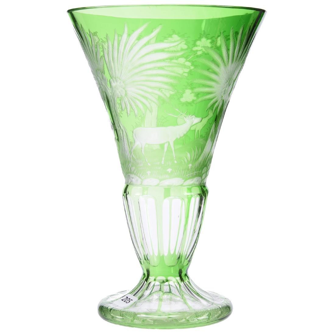 Bohemian Vase, Engraved Design