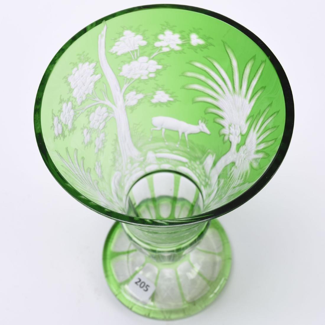 Bohemian Vase, Engraved Design - 3