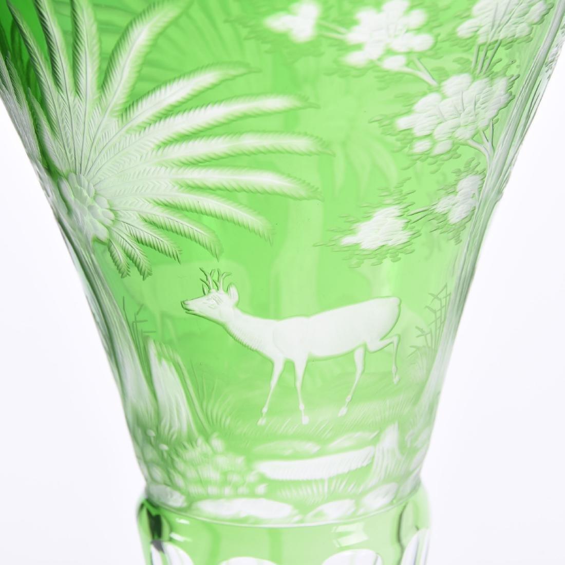 Bohemian Vase, Engraved Design - 4