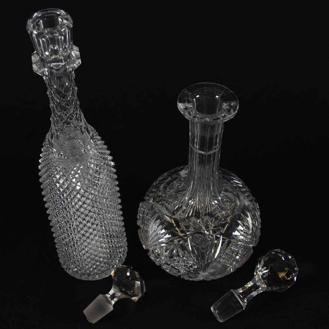 (2) Decanters, Various - 2