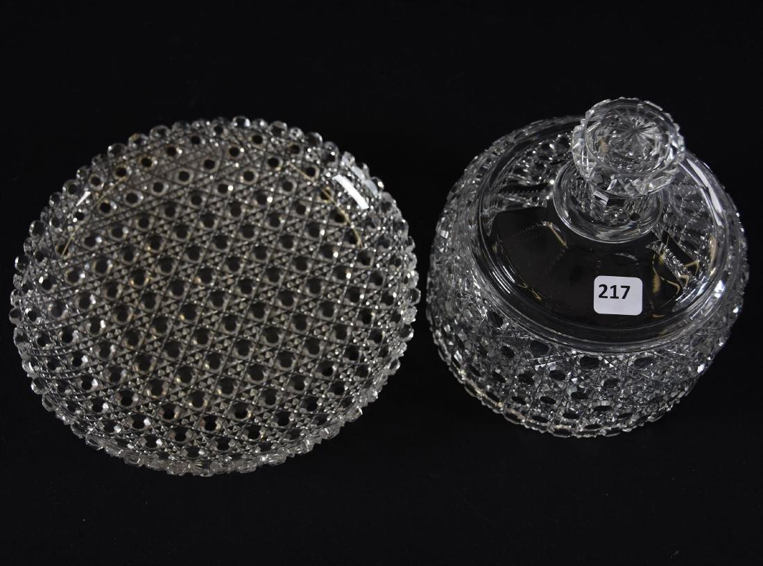 Cheese Dish, Cane Pattern - 2
