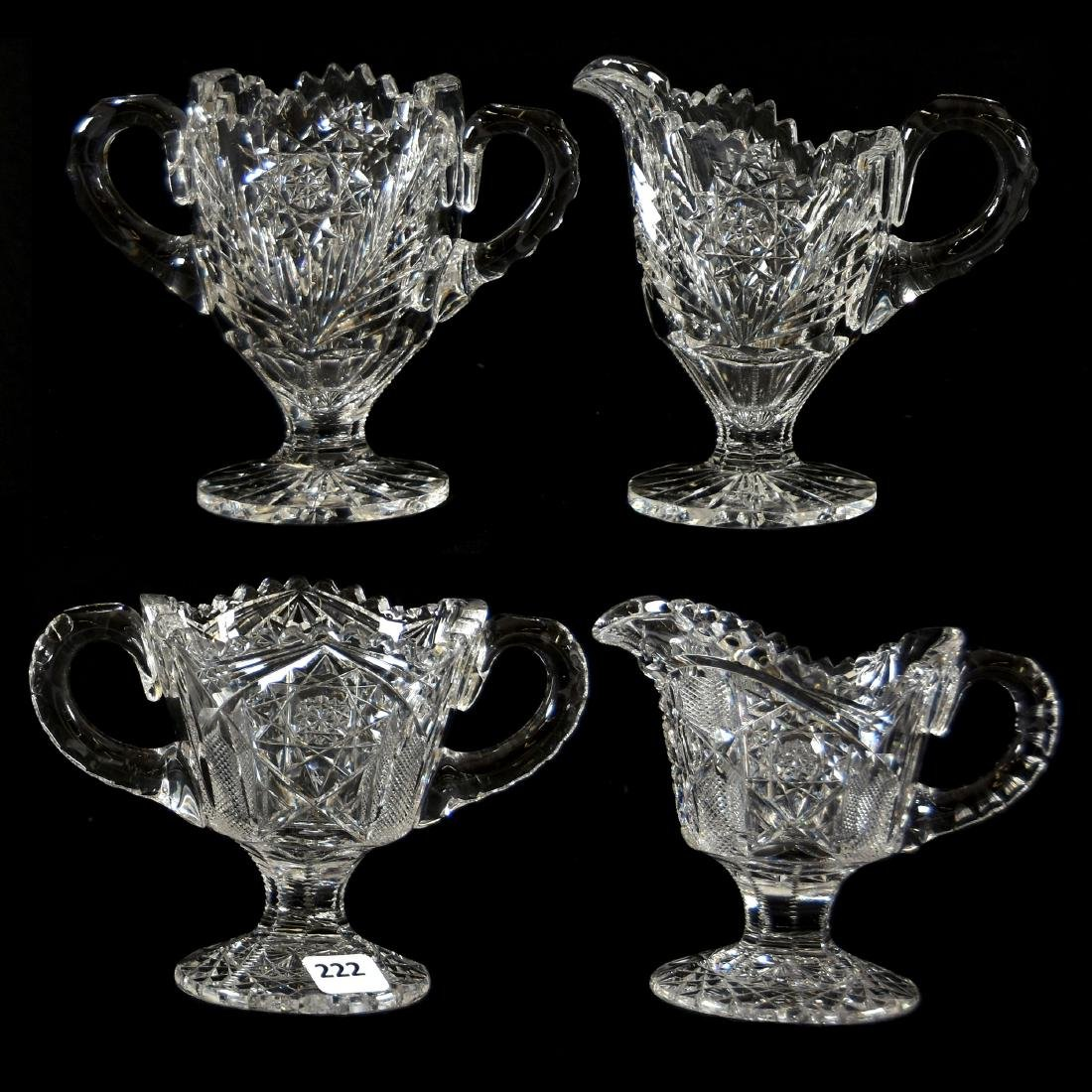 (2) Creamer & Sugar, Various Patterns