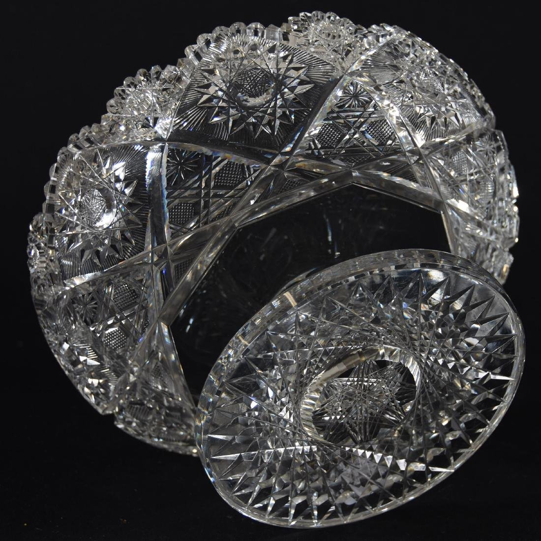 Bowl, Hobstar, Strawberry Diamond & Star Motif - 3