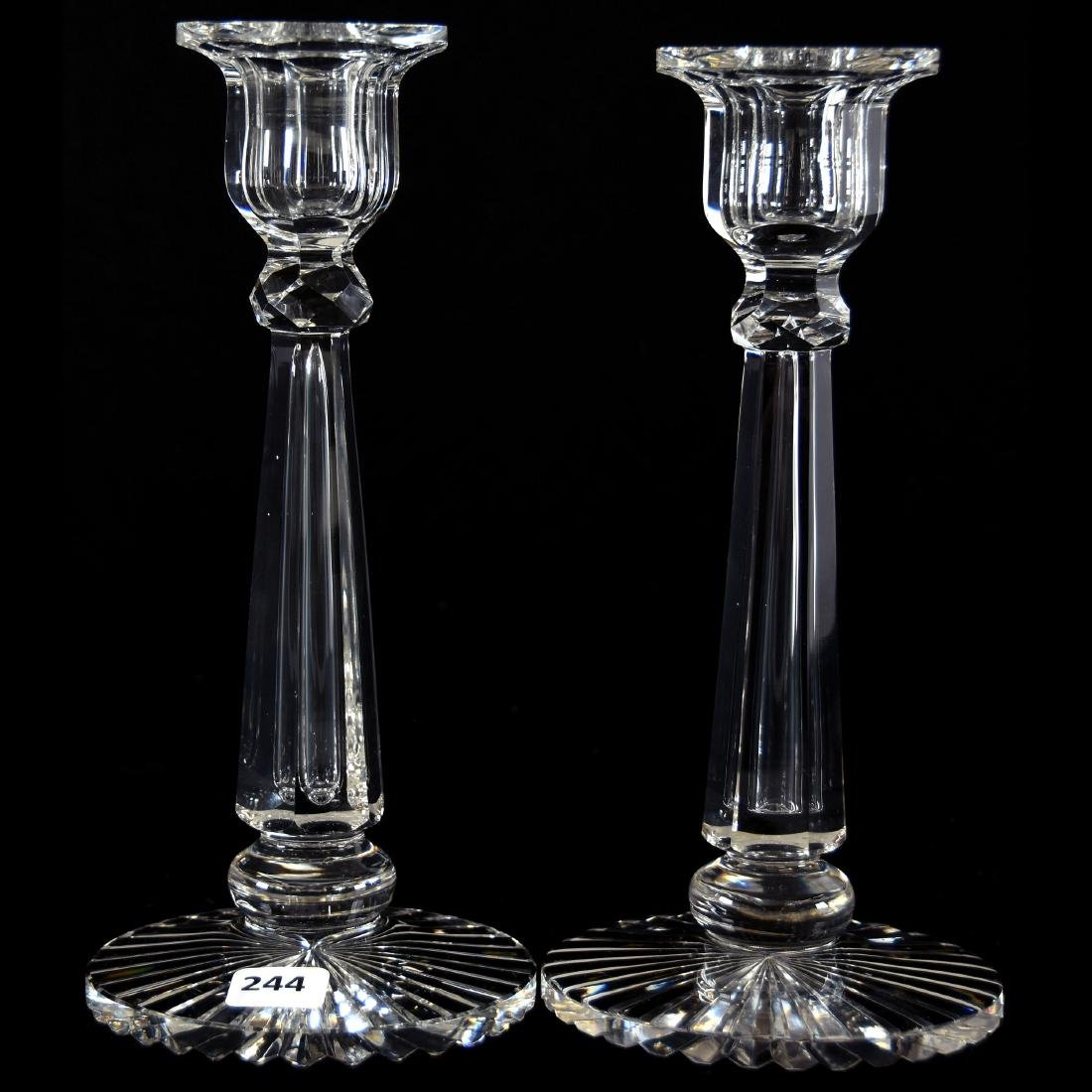Pair Candlesticks, Signed Hawkes