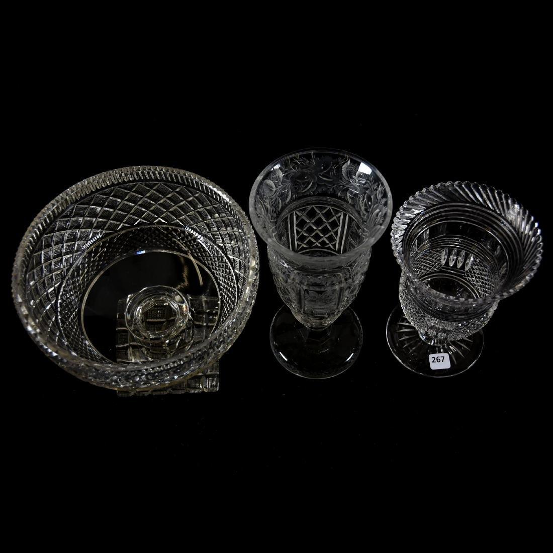 (3) Assorted Brilliant Period Cut Glass Items - 2