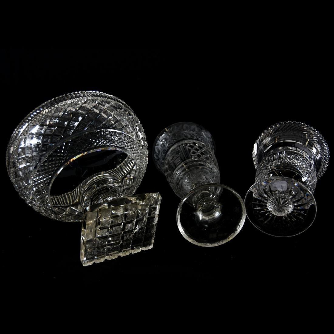 (3) Assorted Brilliant Period Cut Glass Items - 3