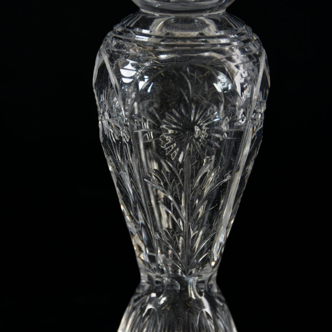 Pair Candlesticks, Engraved Floral Motif - 3