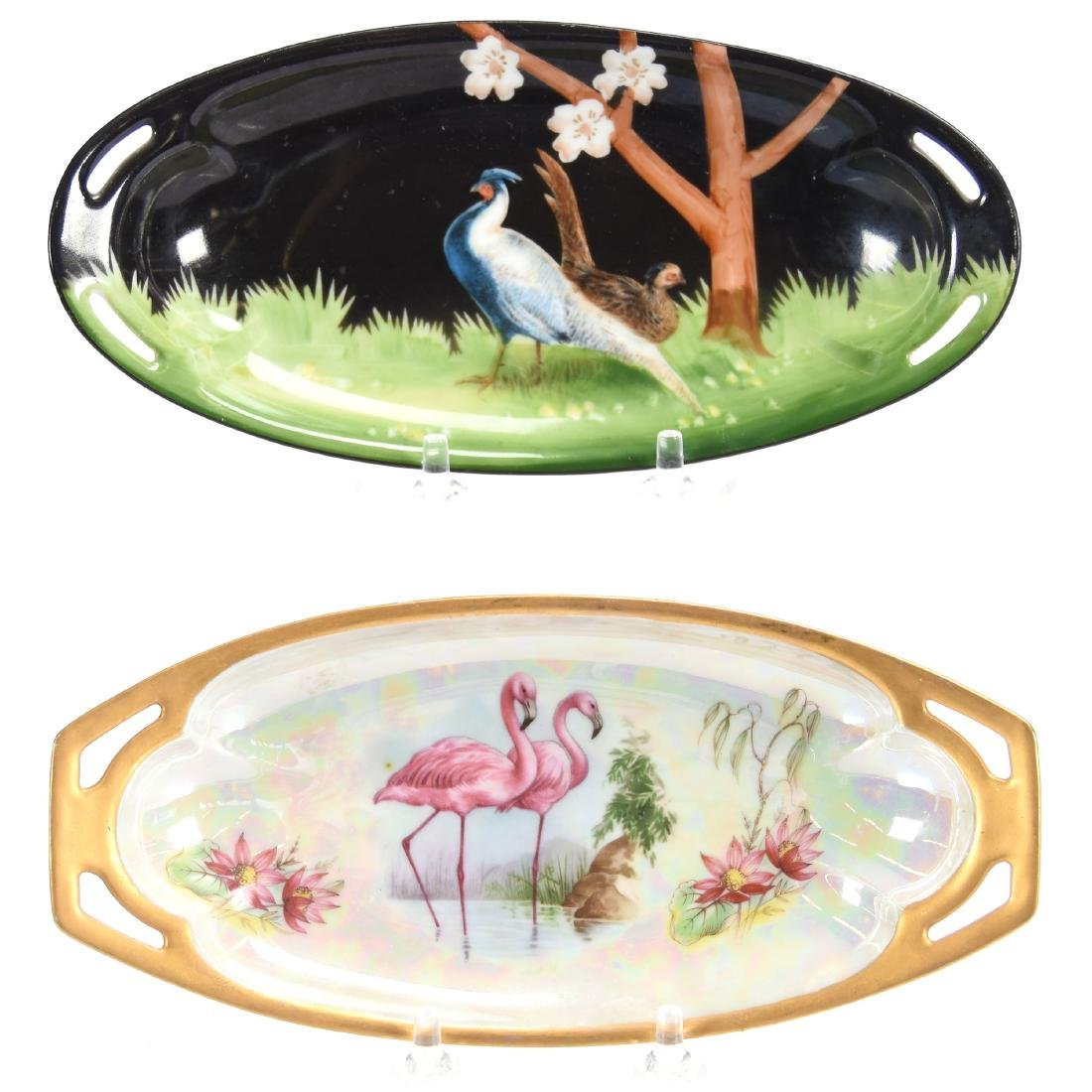 (2) Relish Trays, Marked